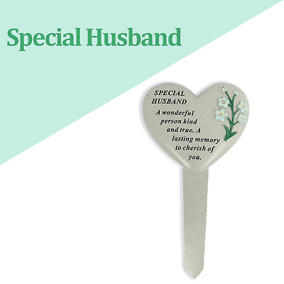 Special Husband Graveside Heart Memorial Plaque Frame Stake Grave Tribute New