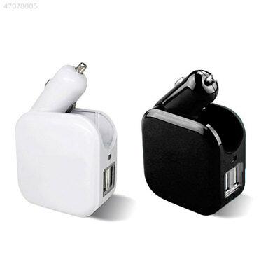 74AC 2 in 1 Car and Home Wall Charger Adapter 2.1A Dual USB Ports AU/US Plug