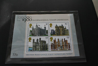 GB Stamps 1978 British Architecure, Historic Buildings MS 1058