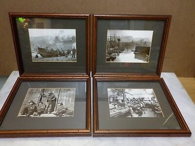 Whitby 4 x Framed Photographs Victorian scenes, Frank Sutcliffe reproductions