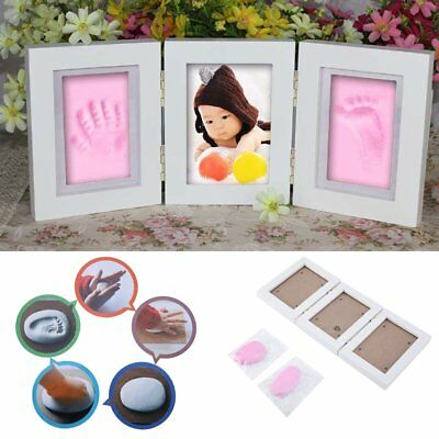 Cute Photo Frame Portable Baby Footprint Hand Print Frame DIY Gift For Baby LP