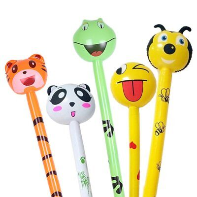 Children's Inflatable Toys Lovely Animal Head Long Stick Inflatable Stick ToyNR
