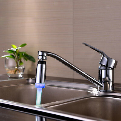 Auto Glow Shower Waterfall Led Light Water Faucet 3-Color Chaging Tap 8cm