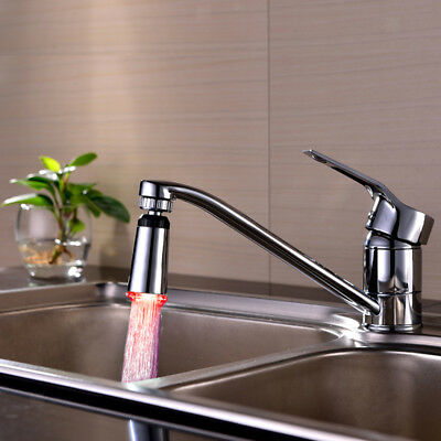 Auto Glow Shower Waterfall Led Light Water Faucet 3-Color Chaging Tap 5.5cm