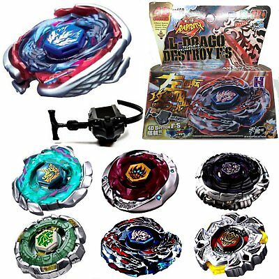 4D Fusion Top Metal Master Rapidity Fight Rare Beyblade Launcher Grip Game AZ