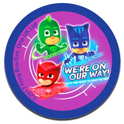 Iron on patches 11 x 8 cm Ap colorful PJ MASKS WE´RE ON OUR WAY 2 Disney