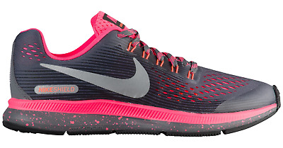 buy popular 4dd82 776c4 Nike Air Zoom Pegasus 34 Shield GS Dark Grey   Silver  Pink 6.5 Y New