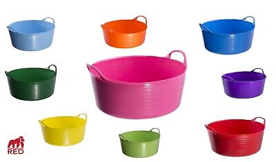Genuine Shallow Tubtrug 15L Flexible Horse Feeding Water Bucket Various Colours