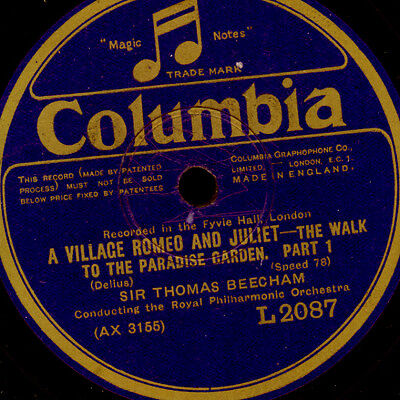 ROYAL PHILHARM. O. & BEECHAM Delius: A Village Romeo & Juliet  The walk... G3354