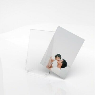 6x4 7x5 8x6 Freestanding Polished Clear Acrylic Picture Photo Frame / Modern