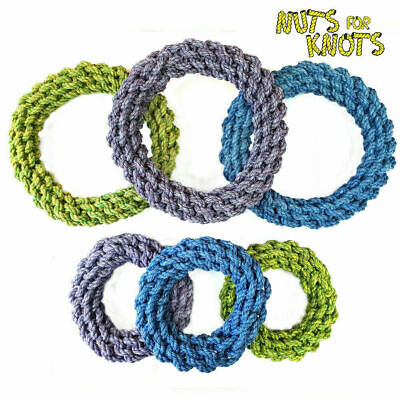 Dog Chew Toy Rope Ring Puppy Pet Strong Pull Tug Play Nuts for Knots Small/Large