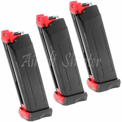 AirsoftShooter APS 3pcs 18rd Co2 Magazine for Steel SHARK .177 Cal 4.5mm BB BK