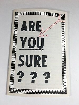 Christian Tract Book 1960s 70s Are You Sure? Oliver B Greene Religious Handout