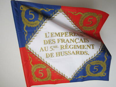 Napoleonic flag standard French 5 th hussars regiment real size 2 sides made