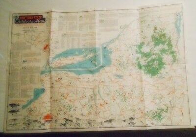New York State Outdoors Map - by State Conservation Department...c.1948