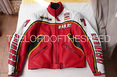 Suzuki Barry Sheene Dainese Vintage Jacket Motorcycle Suzuki Barry Sheene Agv 7