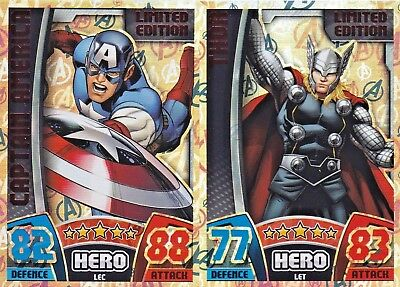 Marvel HERO ATTAX AVENGERS - PICK ANY LIMITED EDITION - Topps Trading Cards