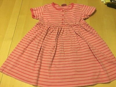 Hanna Andersson Classic Style Striped Play Dress, Pink, Sz 6 (120 Cm)