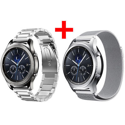 Für Samsung Gear S3 Frontier/Classic Armband Edelstahl Metall Band UhrBand TH886