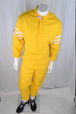 Rjs Racing Sfi 3-2A/1 New Classic 1 Pc Suit Adult Extra Small Fire Suit Yellow