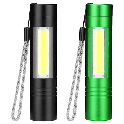 Mini COB LED Flashlight 4 Lighting Modes Outdoor Camping Torch Water-resistance