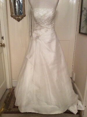 Ex Sample Ivory Gown By Benjamin Roberts Size 12