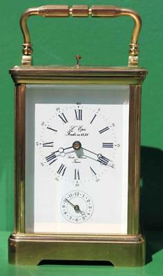 Vintage French L'epee Grande Cornish Striking Repeater Alarm Carriage Clock