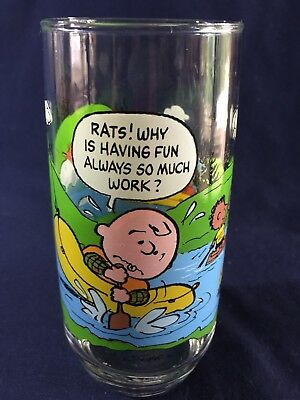 Vintage Camp Snoopy Collection Mcdonalds Glass Peanuts Rats