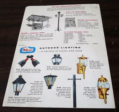Vintage 1957 Thomas Lighting Moe Light Fixtures Dealer Price Catalog N
