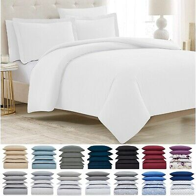 Mellanni 1800 Hotel Collection 5-Piece Duvet Cover Set - Hypoallergenic Bedding