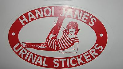 Hanoi Jane Urinal Sticker  Jane Fonda  Pack Of3 Decals Stickers Ovals