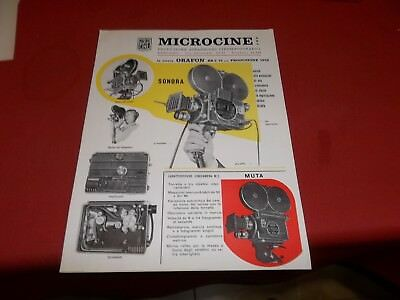 Pubblicita' Advertising 1957 Microcine Orfon Br 2 16 Mm Cinecamera Sonora Muta