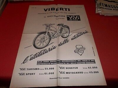 Pubblicita' 1956 Scooter Ciclomotore Viberti Vivi' 48 Sport Advertising 58 X 40