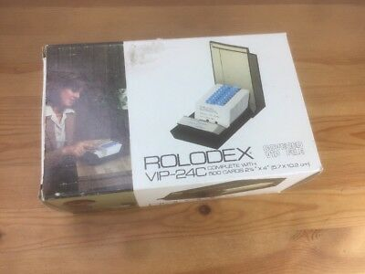 Rolodex Covered Card File NEW IN BOX VIP 24C Holds 500 Cards Vintage 1980's