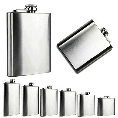 4/5/6/7/8/10 Oz Stainless Steel Hip Liquor Whiskey Alcohol Flask Cap Flowery