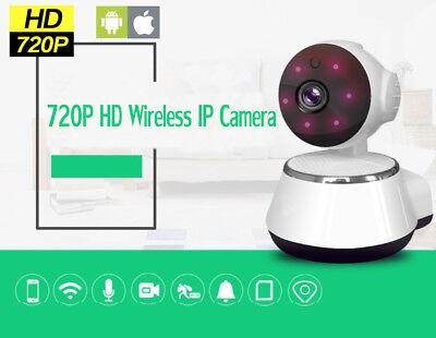 Home Video Baby Monitor IP Camera 720P HD Wireless IR Night Vision Wi-Fi Webcam
