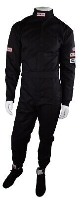 Rjs Racing Sfi 3-2A/5 New 1 Piece Racing Fire Suit Adult Large Black