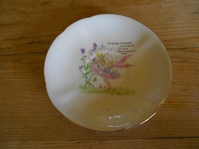 "Vintage Royal Standard China Fairy Forget Me Not 5.5"" Saucer"