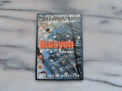 Salamander Halcyon Real Ale Beer Pump Clip Sign