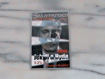 Salamander Jekyll & Hyde Porter Real Ale Beer Pump Clip Sign