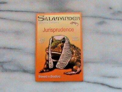 Salamander Jurisprudence Real Ale Beer Pump Clip Sign