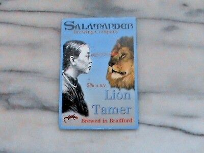 Salamander Lion Tamer Real Ale Beer Pump Clip Sign