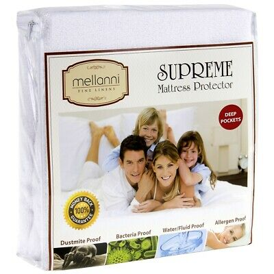 Mellanni Mattress Protector Waterproof, Hypoallergenic, Deep Fitted Bed Cover