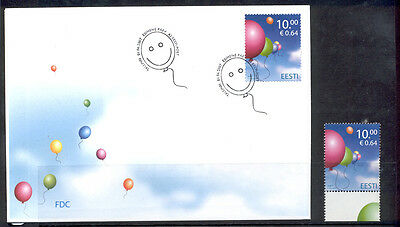 Estonia FDC and Stamp 2007 MNH** ''Children's Day''.