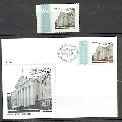 Estonia FDC and Stamp 2007 MNH** ''My Stamp""