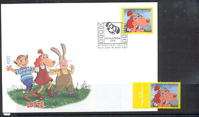 Estonia FDC and Stamp 2007 MNH** ''Lotte from Gadgetville''.