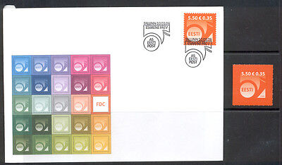 Estonia FDC and Stamp 2008 MNH** ''Post Horn 5.50''.