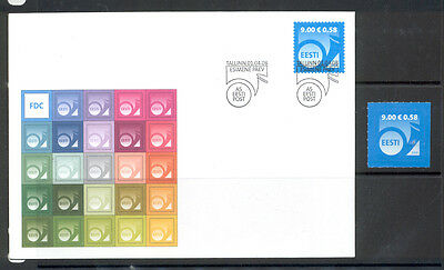 Estonia FDC and Stamp 2008 MNH** ''Post Horn 9.00''.