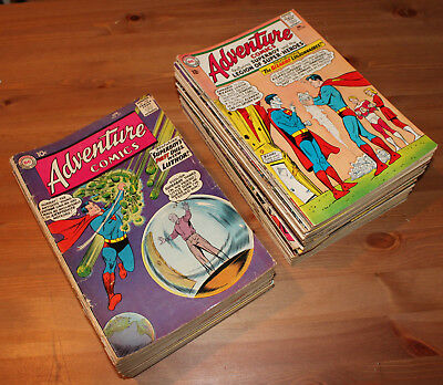 Adventure Comics #271-381 40 comic books lot *Original Owner*