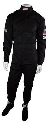 Rjs Sfi 3-2A/5 New 1 Piece Racing Fire Suit Adult Large Black Outlaw Racing